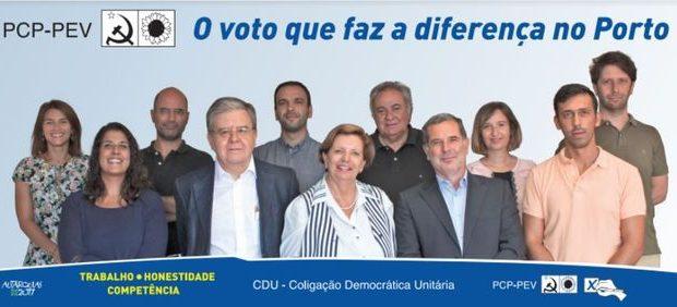 Conheça aqui o programa eleitoral da CDU no Porto nas eleições autárquicas de 2017: Ler aqui: CDU PORTO – Programa Eleitoral Municipal